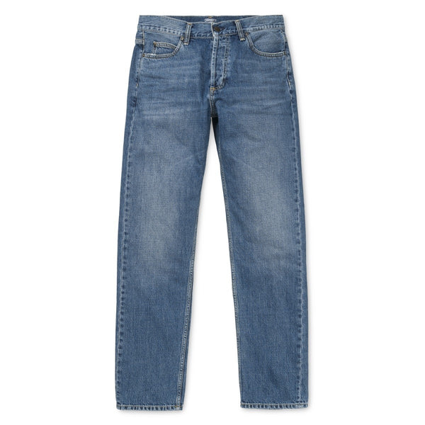 Carhartt WIP Texas Pant Edgewood Cotton Blue Denim 12 Oz Stone Coast