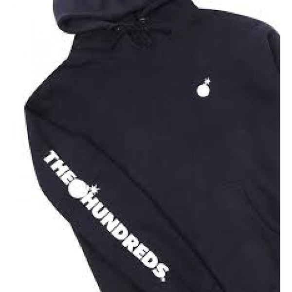 The Hundreds Solid Bomb Hoodie Black/White