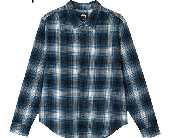 Stussy Alton Plaid Long sleeve   Indigo