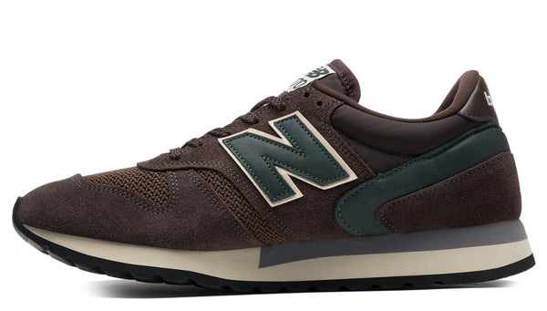 "New Balance M770AET "" Made in UK ""  Brown with Green"
