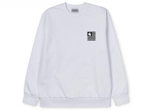 Carhartt WIP State Patch Sweat White