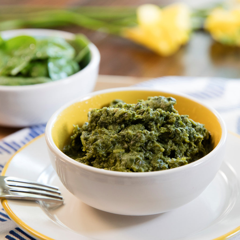 Kids Coconut Creamed Spinach