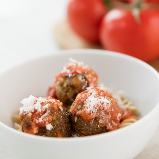 Just Grassfed Meatballs with Marinara Sauce (No Pasta!)