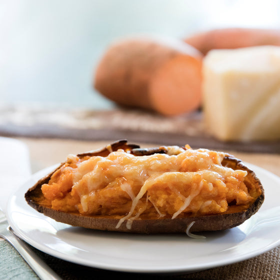Kids Twice Baked Sweet Potato with Ricotta