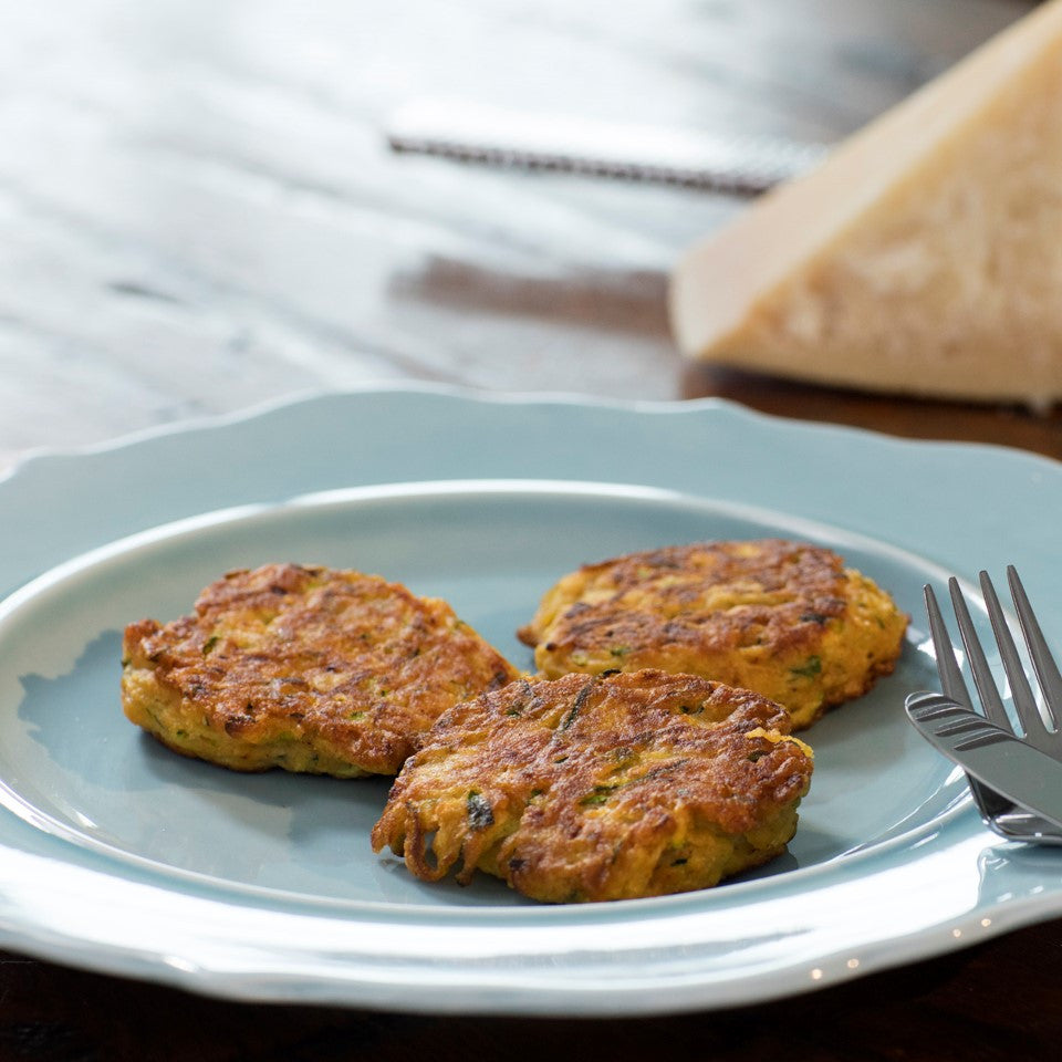 Kids' Zucchini Pancakes with Corn Meal