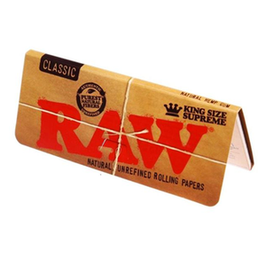 RAW King Size Slim Rolling Papers & Tips
