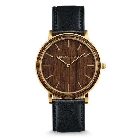 Gold / Ebony Wood / Wood Dial