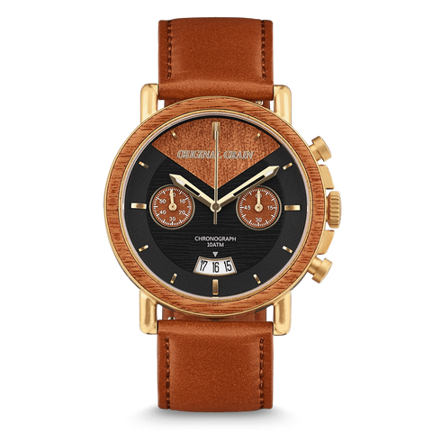 Chrono Mahogany / Antique Gold Leather
