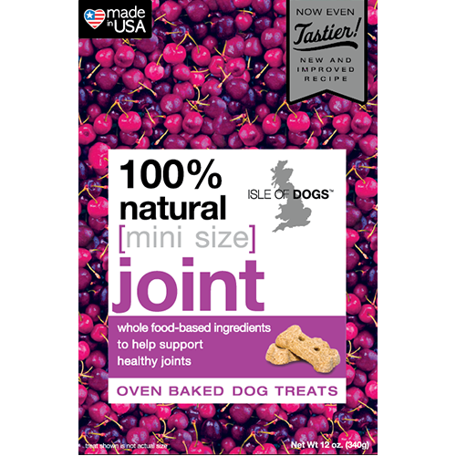 Mini-Joint 100% Natural Baked Treat-Featuring Glucosamine & Chondroitin - 1 case/12 boxes