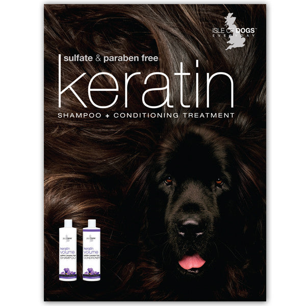 Poster - Keratin Shampoo and Conditioner