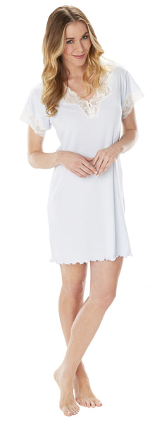 "Melanie 36"" Short Sleeve Gown"