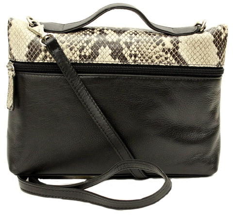 Bag Black Leather/Python