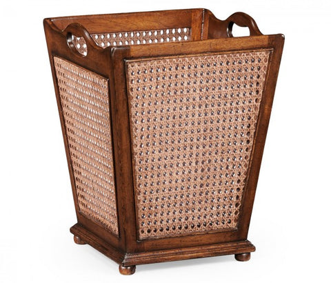 Caned Waste Basket