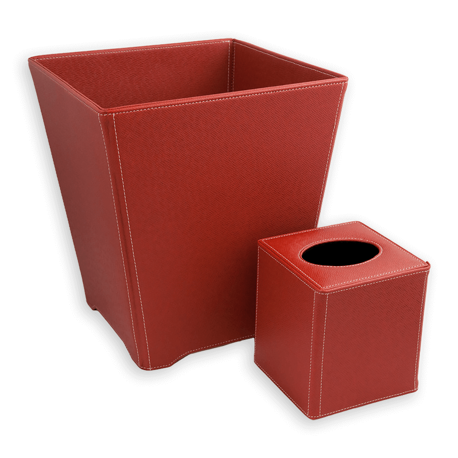 Collapsible Waste Basket and Tissue Cover Collection