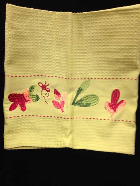 Towel with Blossoms Design