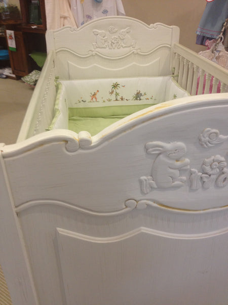 Crib with Bunny Design