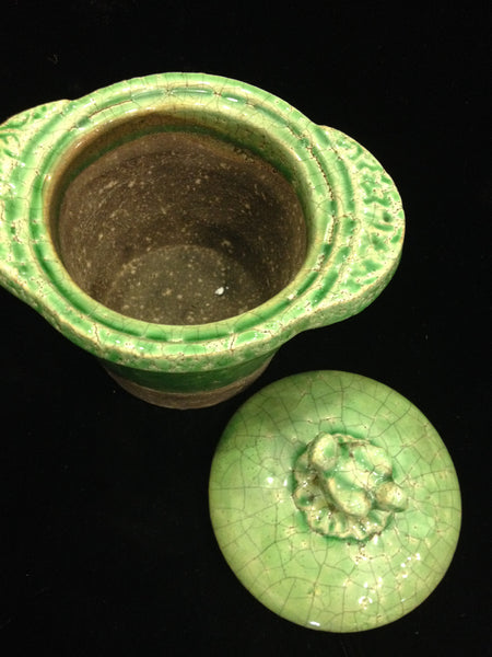 Pot with Green Lid