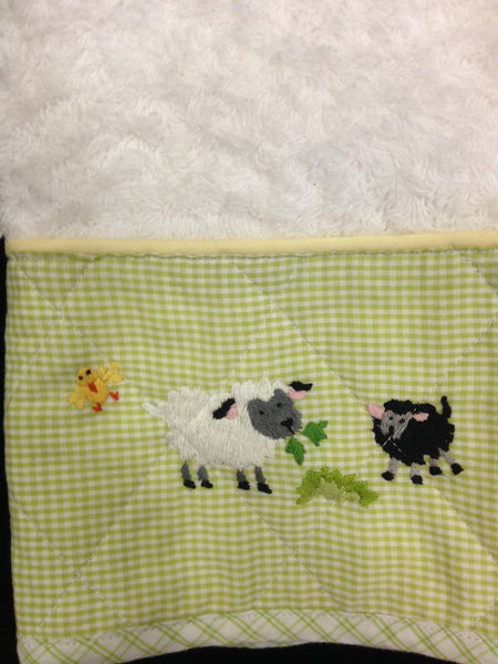 Terry Shoulder Cloth with Little Barn Design