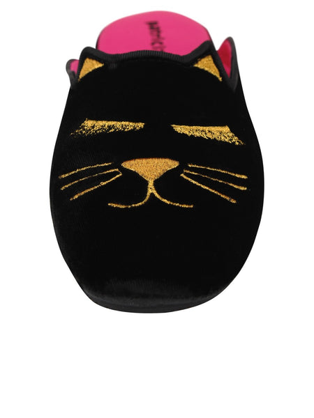 Slippers With Demure Kitty Design