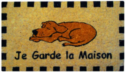 Coir Door Mat with Dog Design