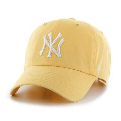 47 Brand CLEAN UP New York Yankees Yellow Dad Hat - Fashion Landmarks