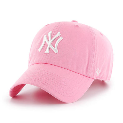 47 Brand CLEAN UP New York Yankees Pink Dad Hat - Fashion Landmarks