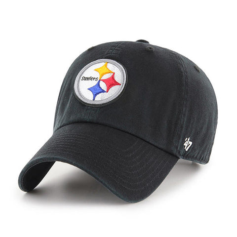 47 Brand Pittsburgh Steelers Clean Up Dad Hat