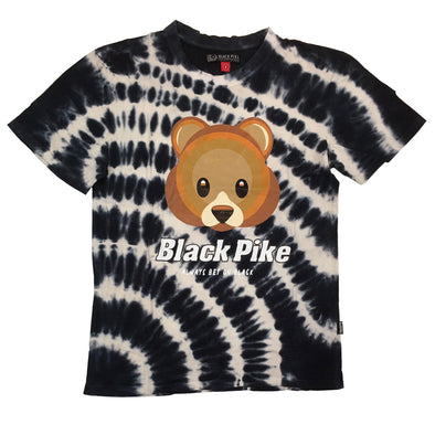 Black Pike Bear Tie Dye Tee (Black)