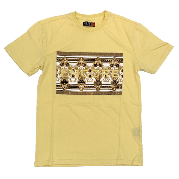 Huge Encore Embossed Tee (Pale Yellow)