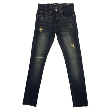Royal Blue Ripped Skinny Jean (Frank) - Fashion Landmarks