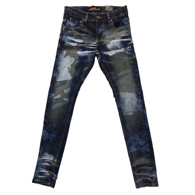Copper Rivet Blue Camo Jean - Fashion Landmarks