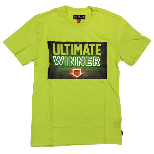 Black Pike Ultimate Winner Embossed Tee (Lime)
