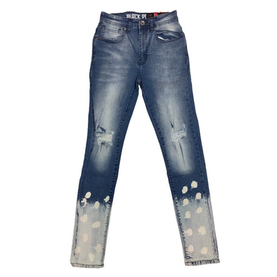 Black Pike Painted Two Tone Jean (Light Blue)