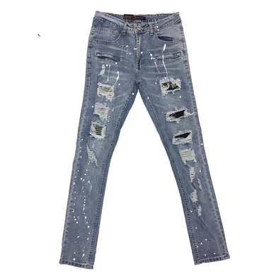 M.Soceity Painted Ripped Jean (Light Blue)