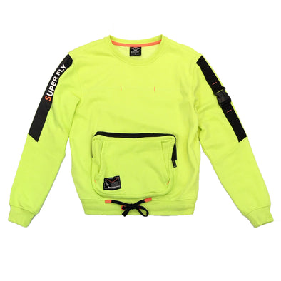 Switch Pocket Crewneck (Neon Green) - Fashion Landmarks