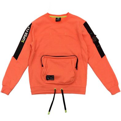 Switch Pocket Crewneck (Neon Orange) - Fashion Landmarks