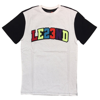 Huge LE23ND Chneille Patch Tee (White) - Fashion Landmarks