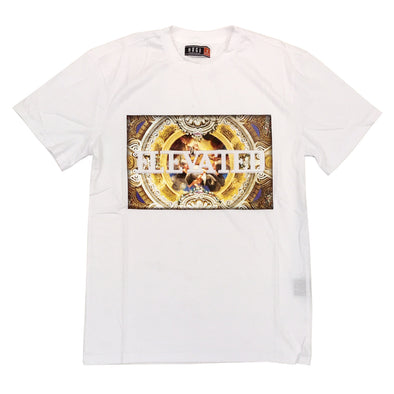Huge Elevated Embossed Tee (White)