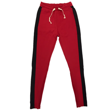 Huge Single Strip Track Pant (Red/Black) - Fashion Landmarks