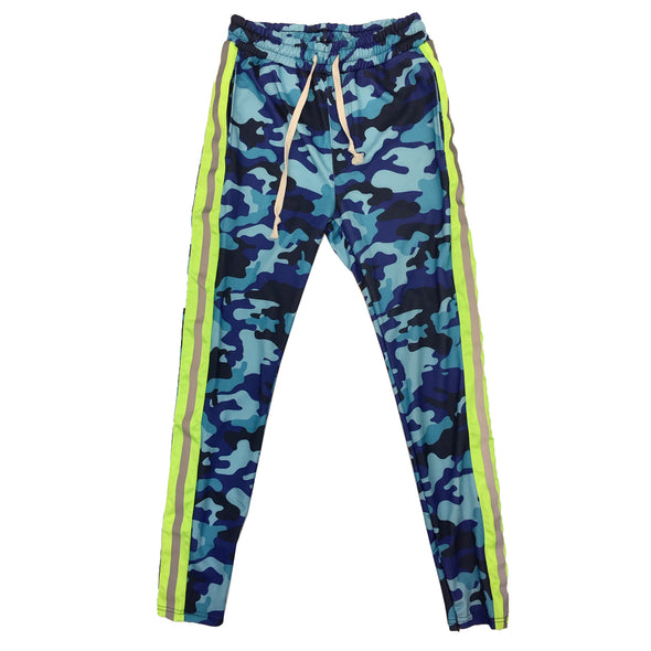 Huge Single Strip Track Pant (Blue Camo) - Fashion Landmarks