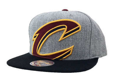 Mitchell & Ness Cleveland Cavaliers Cropped Heather Snapback Hat - Fashion Landmarks