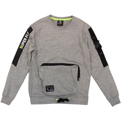Switch Pocket Crewneck (Grey) - Fashion Landmarks