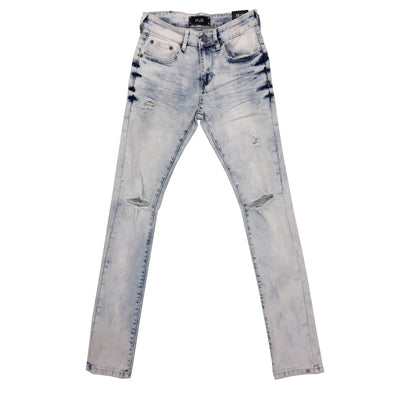 Spark Ice Blue Ripped Jean - Fashion Landmarks