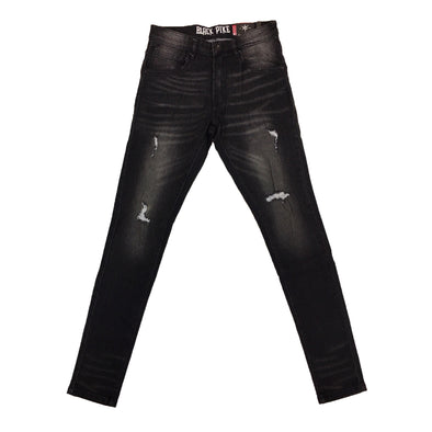 Black Pike Ripped Jean (Black)