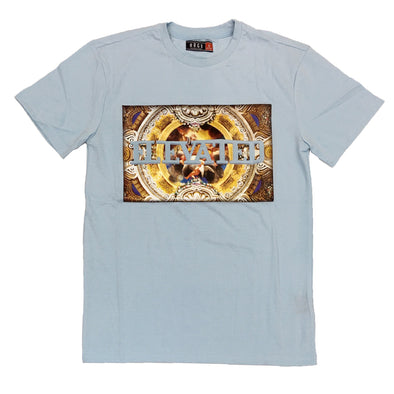 Huge Elevated Embossed Tee (Blue)