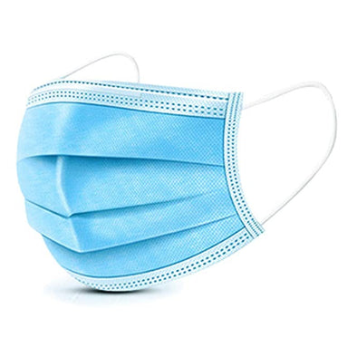 Disposable Eye Mask Dust Breathable Earloop Face Mask Comfortable Sanitary Mask 3-ply Face Shield - US Stock, blue