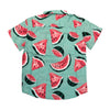 South Pole Water Melon Woven Short Sleeve Shirt - Fashion Landmarks