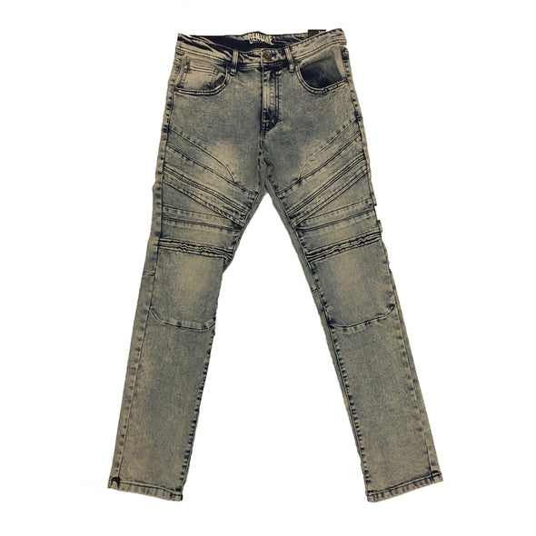 Genuine Natural Blue Biker Jean