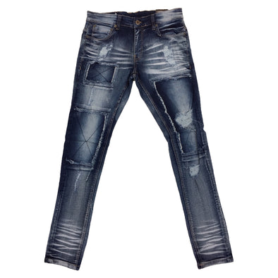 Copper Rivet Window Cut Rip Jean