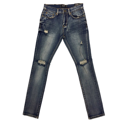 Spark Vintage Blue Ripped Jean - Fashion Landmarks